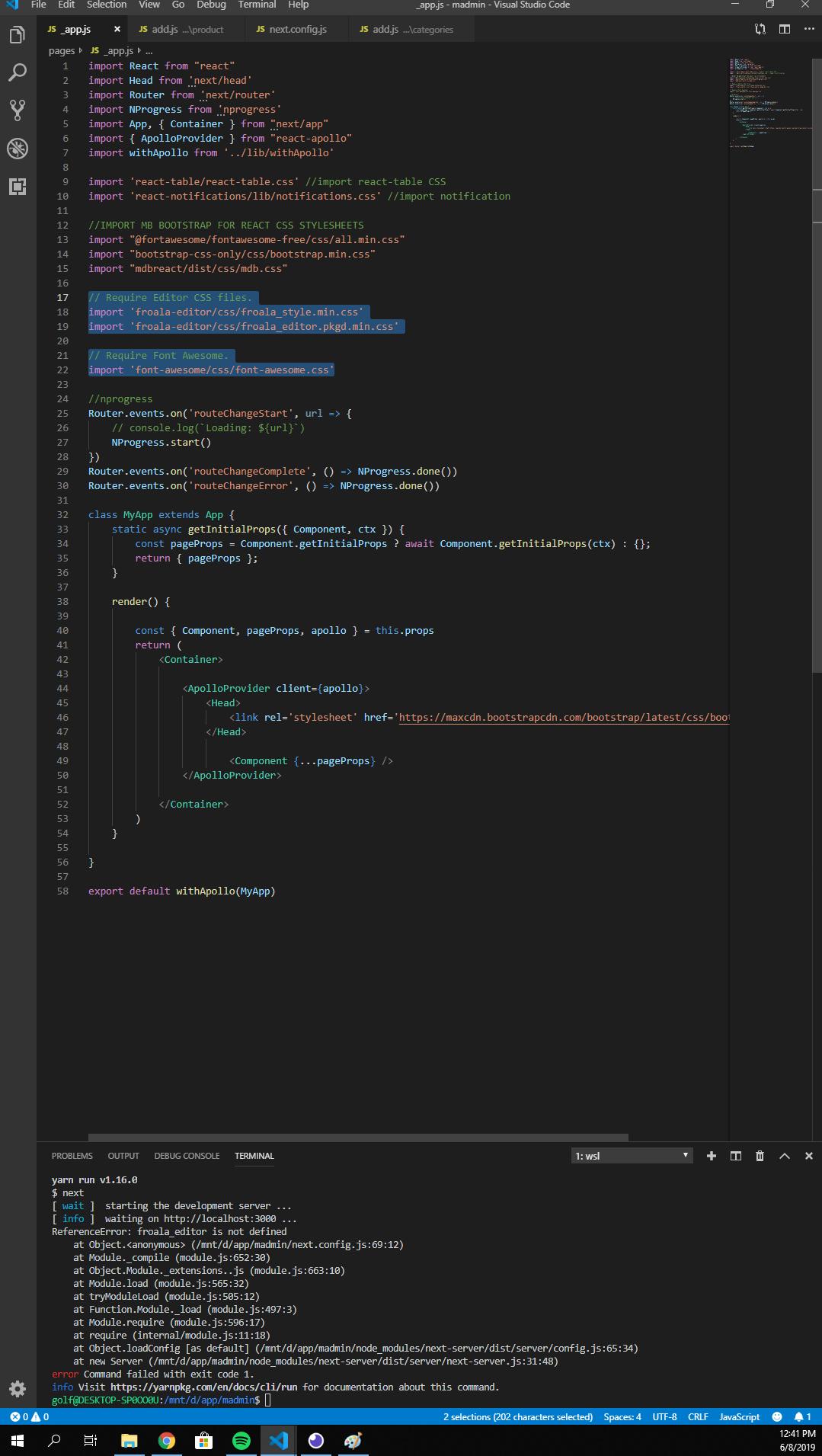 nextjs webpack 4 ] config webpack error froala_editor not defined