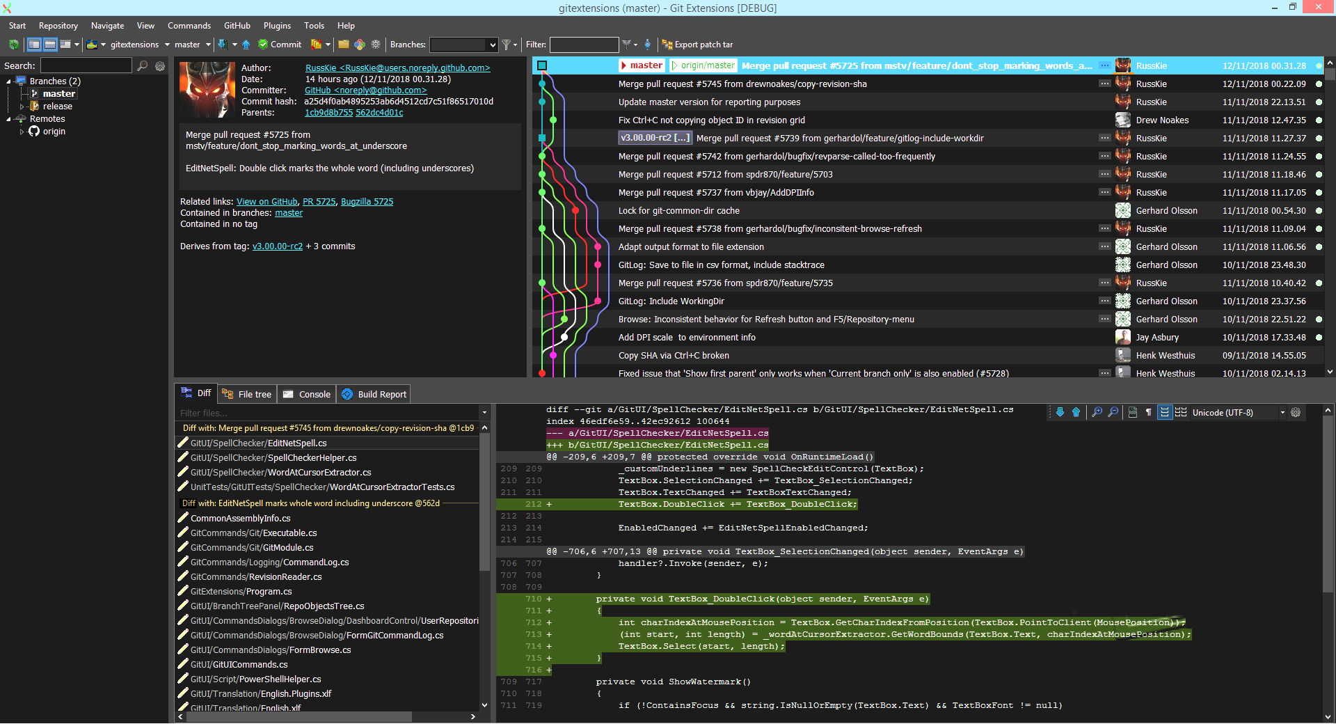 Feature: DARK THEME · Issue #5489 · gitextensions/gitextensions · GitHub