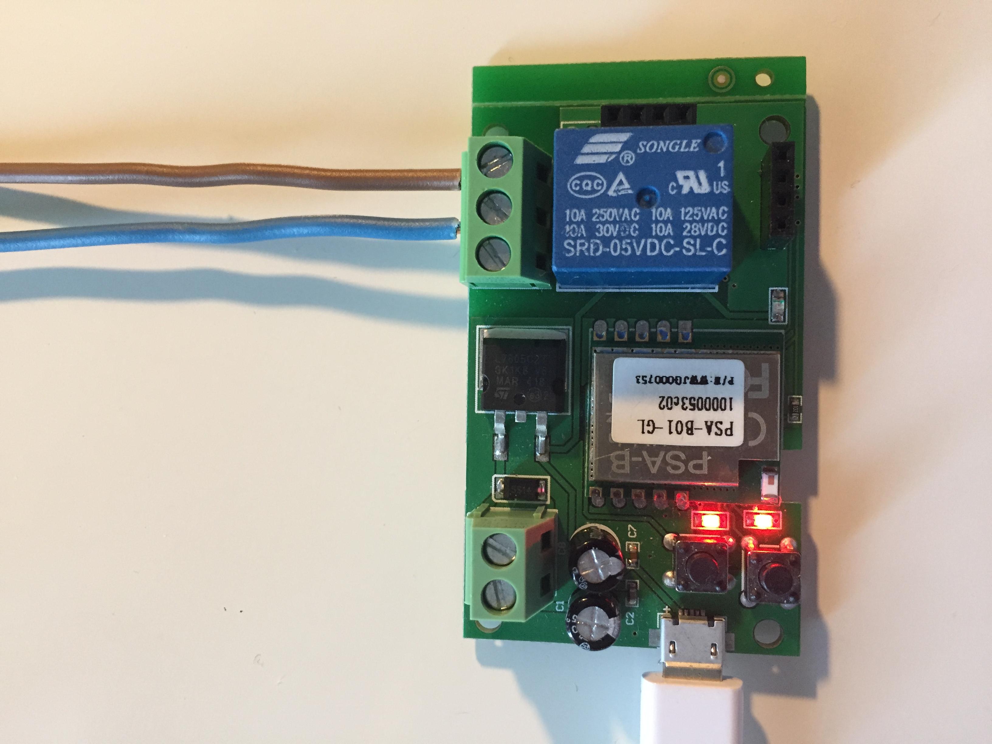 1 Channel Inching Self Lockiing Mode Wifi Wireless Switch