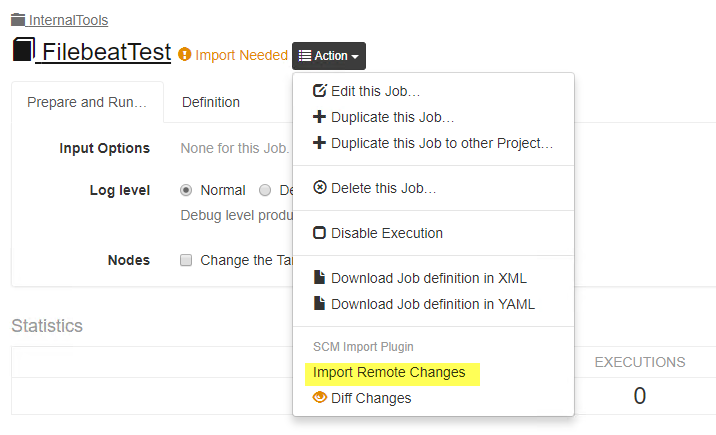 Allow GIT import from SCM without