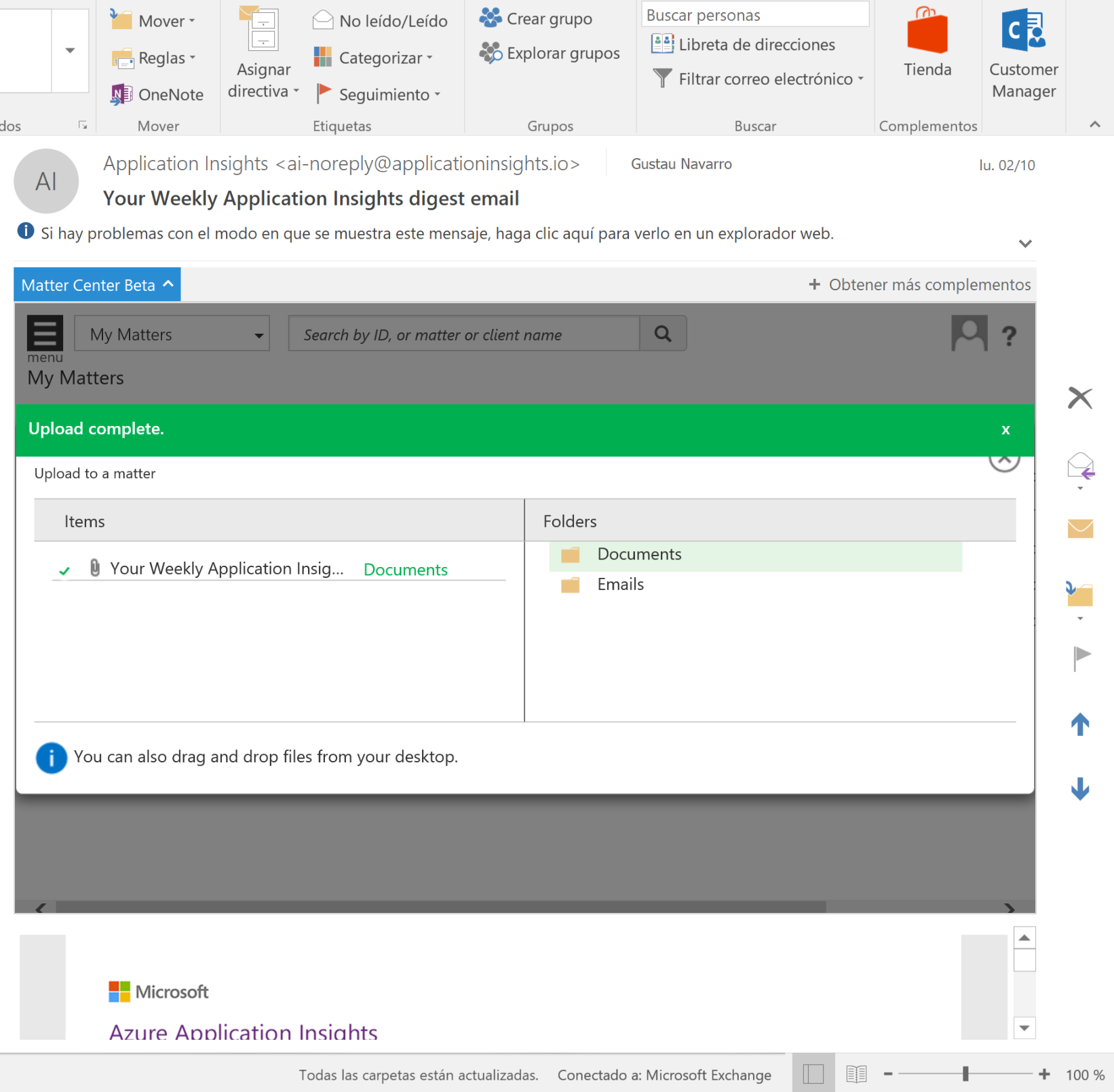 Outlook add-in does not upload emails when attachments are