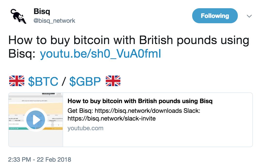 Produce a how to buy bitcoin with gbp using bisq video issue 5 image ccuart Gallery