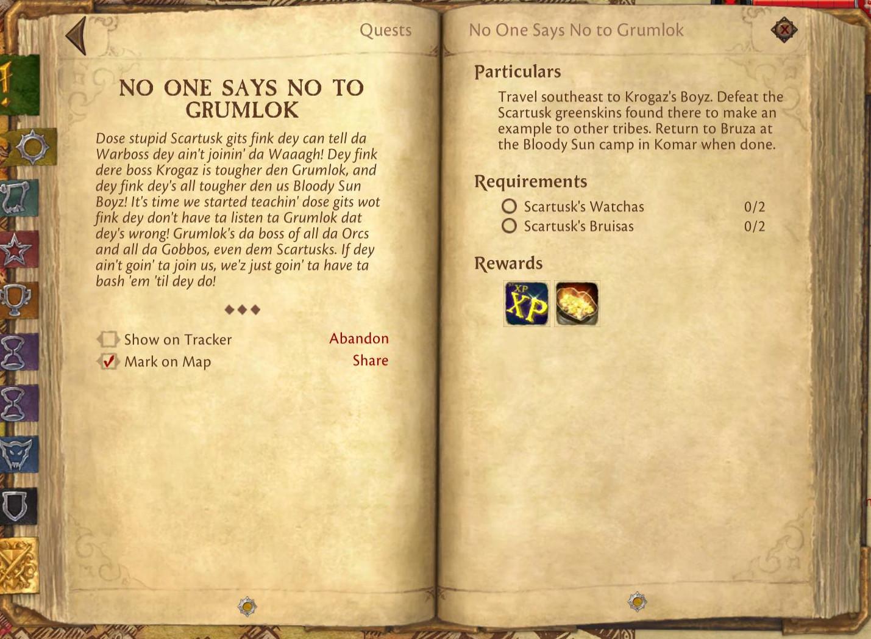 no one says no to grumlok