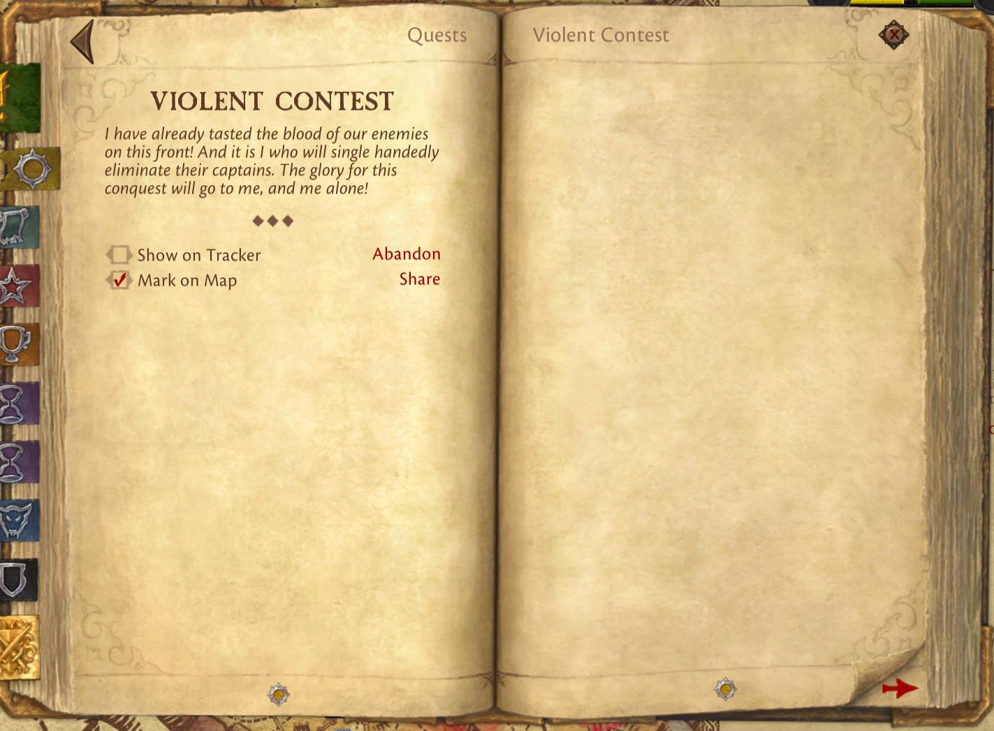 violent contest
