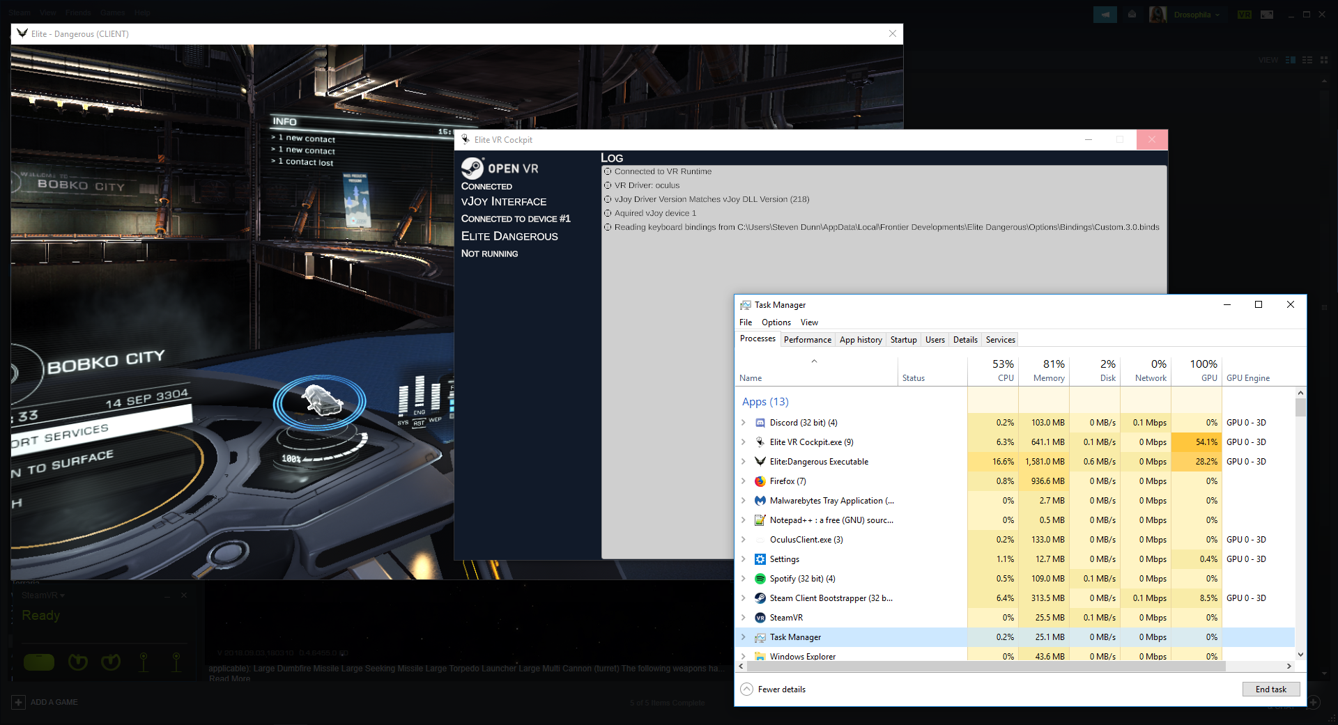 Unable to detect Elite Dangerous and high GPU usage · Issue #28