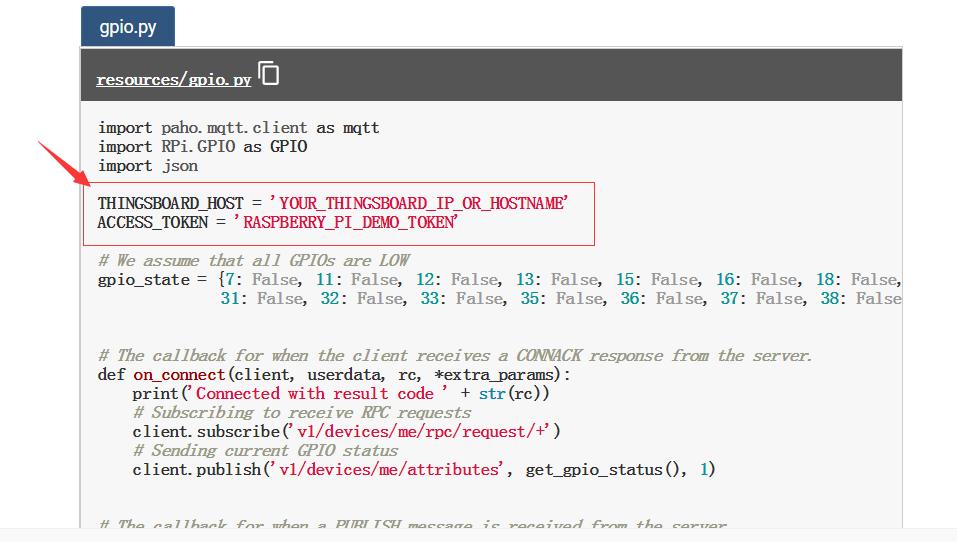 How to control Raspberry Pi GPIO through TB-Gateway? · Issue