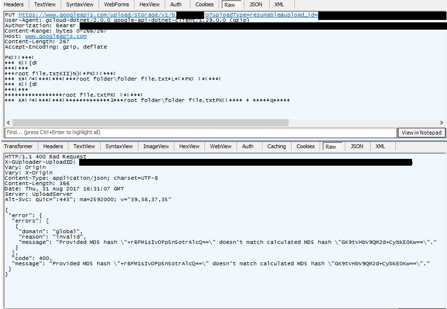 Upload Object Hashing Issue 1417 Googleapisgoogle Cloud Dotnet