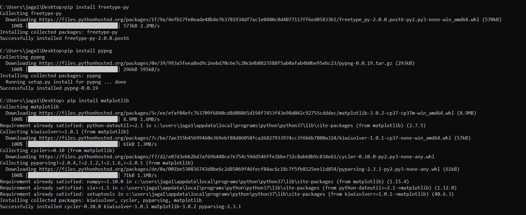 installation error: it says