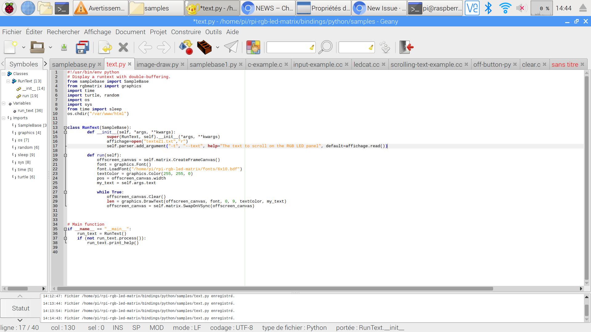 Auto restart python script · Issue #794 · hzeller/rpi-rgb-led-matrix