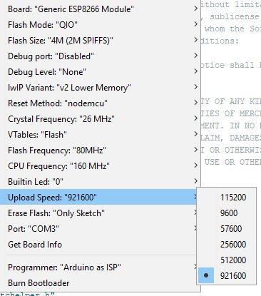 Upload speed a lot slower on Arduino IDE than using esptool py