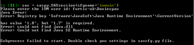 error could not find java se runtime environment