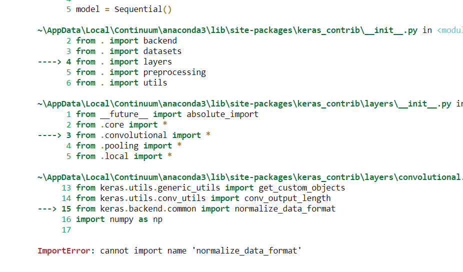 ImportError: cannot import name 'normalize_data_format' · Issue #298