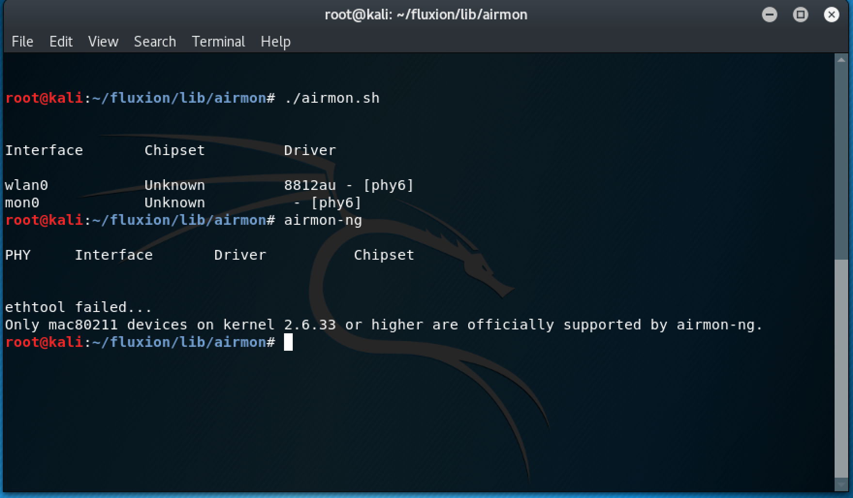 Empty WIFI Monitor · Issue #32 · FluxionNetwork/fluxion · GitHub