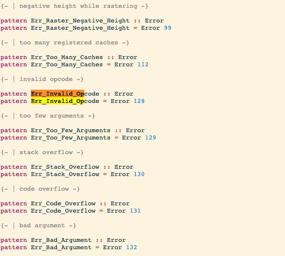 Pattern synonym haddocks sometimes get randomly associated