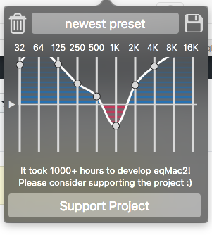 Equalizer band setting increase over saving multiple times