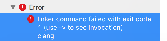 iOS - Xcode: linker command failed with exit code 1, using firebase