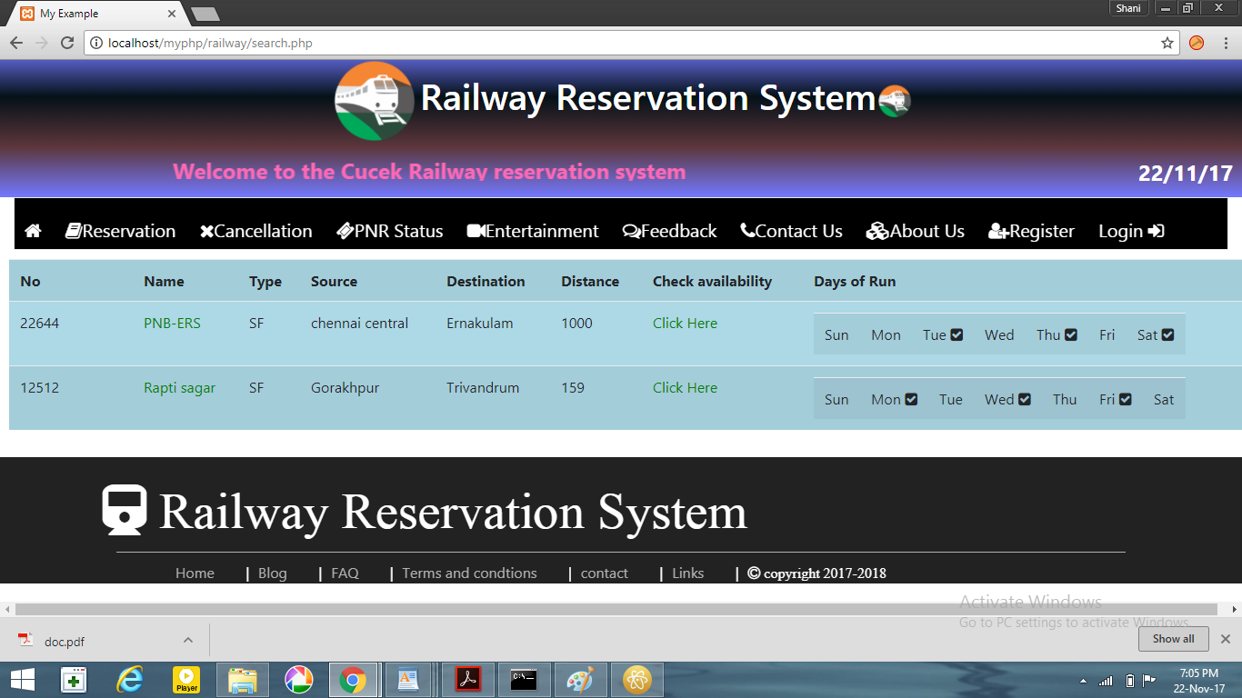 GitHub - shani1998/Railway-Reservation-System: RDBMS Mini