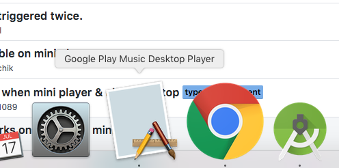 Dock Icon not showing on a second screen connected to