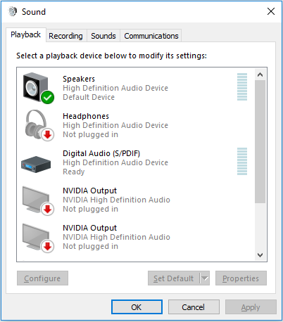 Visualizer not working - Failed to Initialize Audio Client
