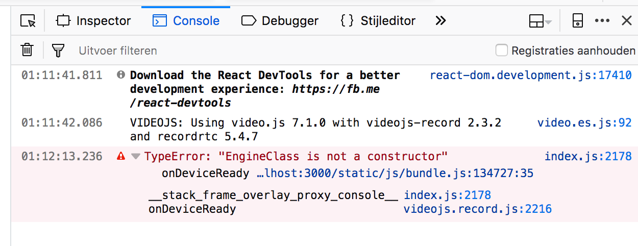 React Wiki - TypeError: EngineClass is not a constructor · Issue