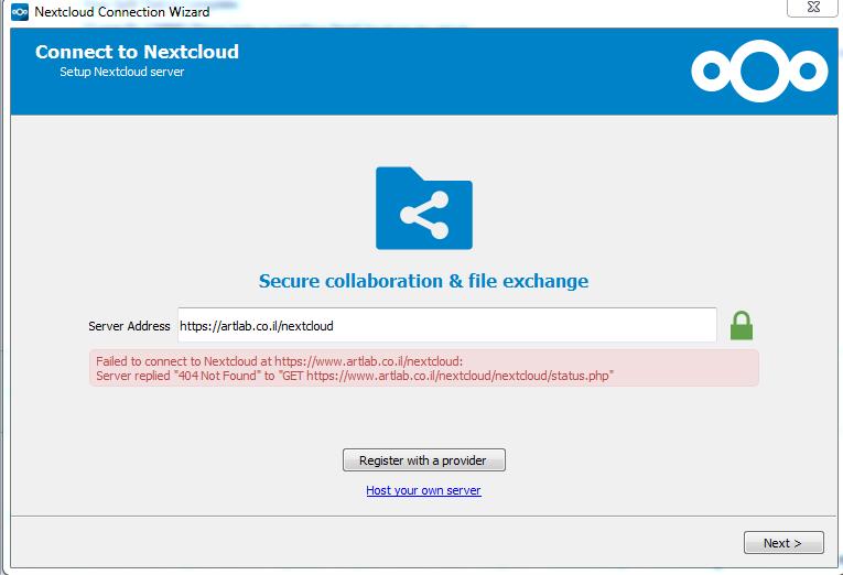 I can't login to my Nextcloud server using the desktop client · Issue  #13176 · nextcloud/server · GitHub