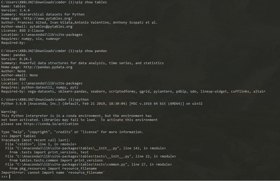 pandas Importerror for pytables > 3 4 2 · Issue #713