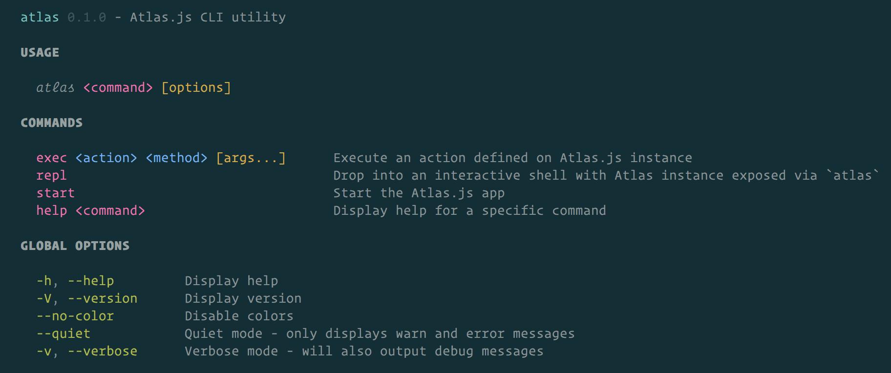 atlas CLI example