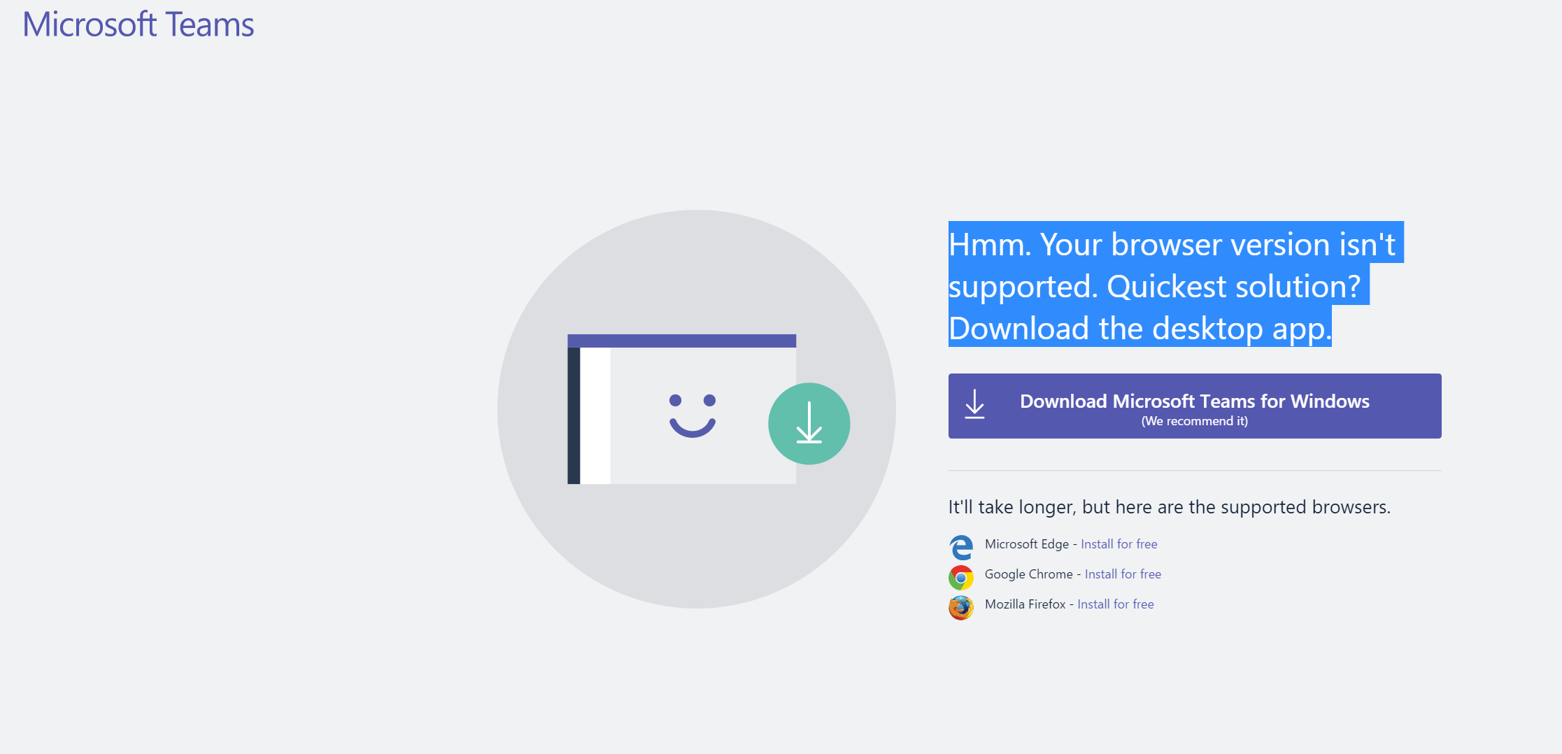 Solved] Microsoft Teams browser version not supported