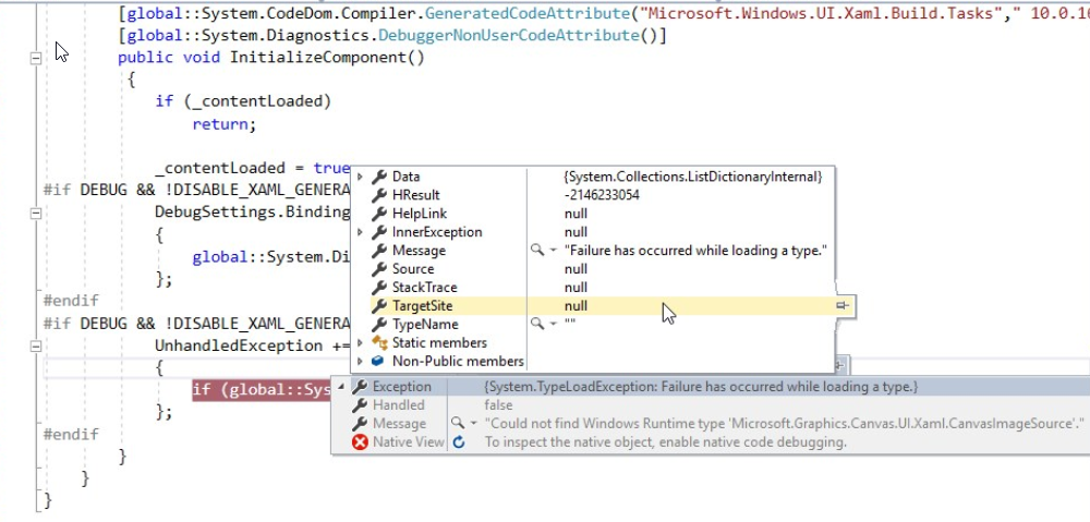 UWP] Could not find Windows Runtime type 'Microsoft Graphics