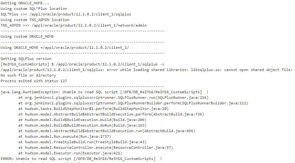 Jenkins - Sqlplus script runner plugin - unable to load