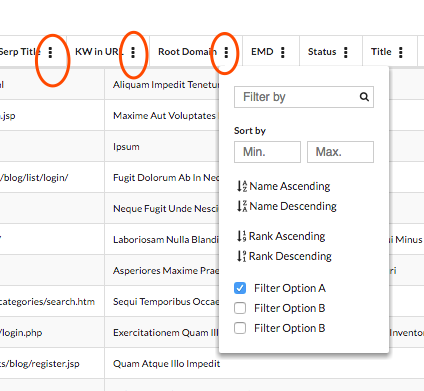 How to add popup modal to every table header · Issue #1676