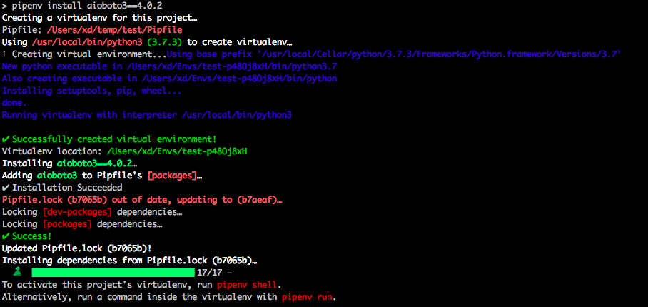 install pipenv python