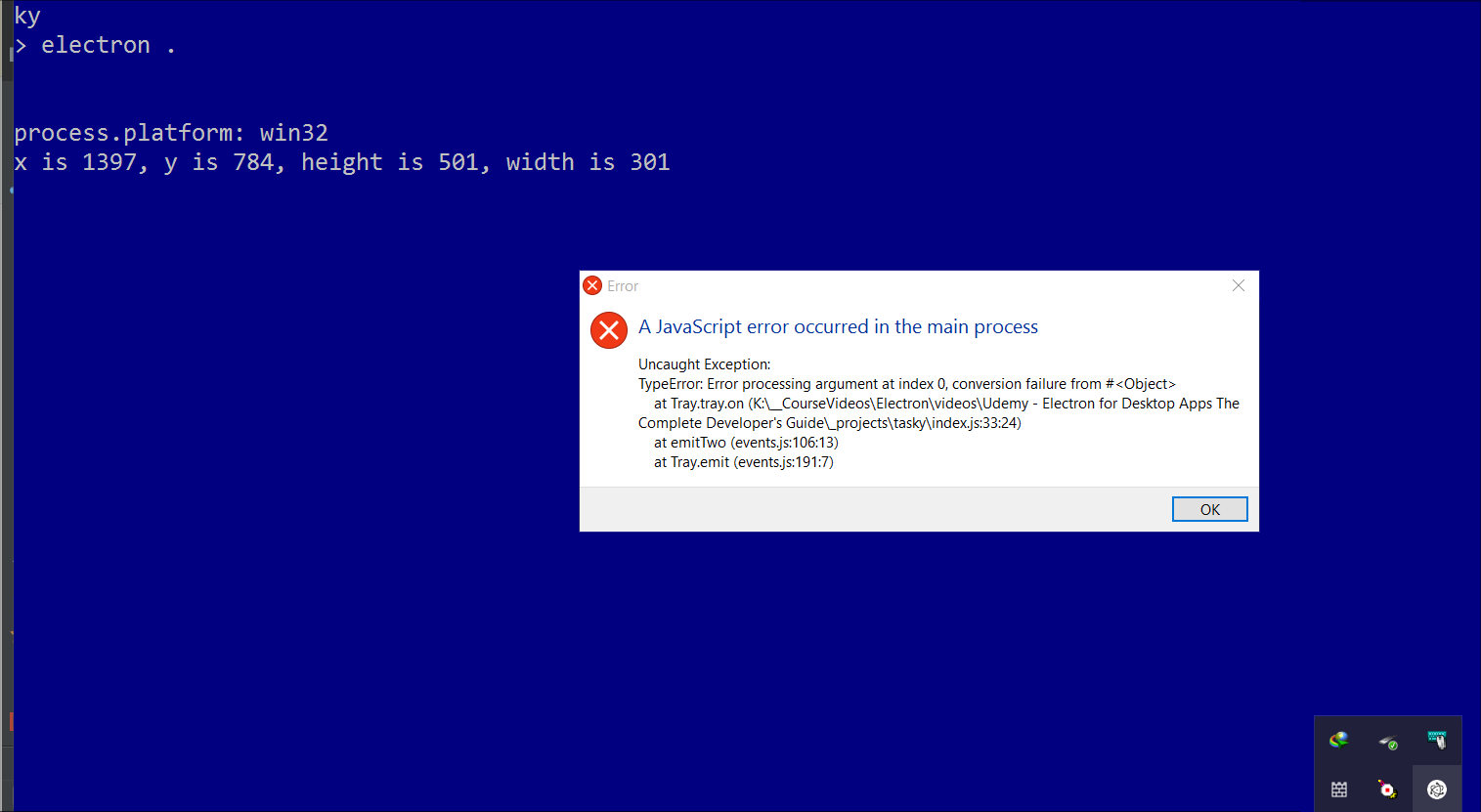 Stephen: You really should have tested with windows - SOLVED