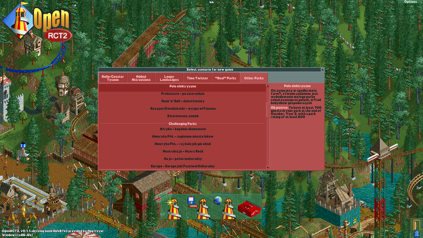 Scenarios incorrectly categorized when using Polish version of RCT2