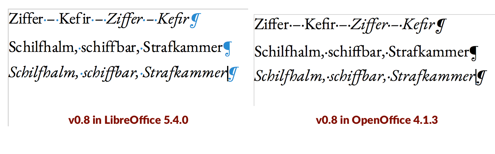 Inconsistent line spacing between styles in LibreOffice/OpenOffice