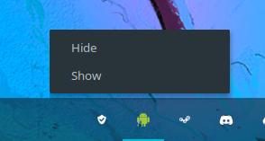 Possível ícone da área de notificações.