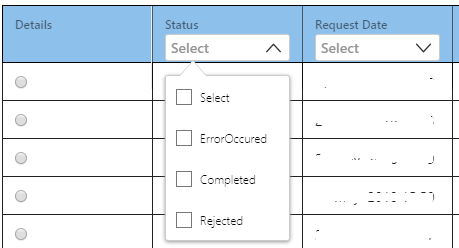 How to implement filtering for each column in ngx swimlane ? · Issue