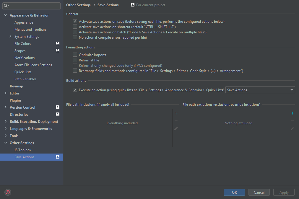 Run editor action on save · Issue #118 · dubreuia/intellij