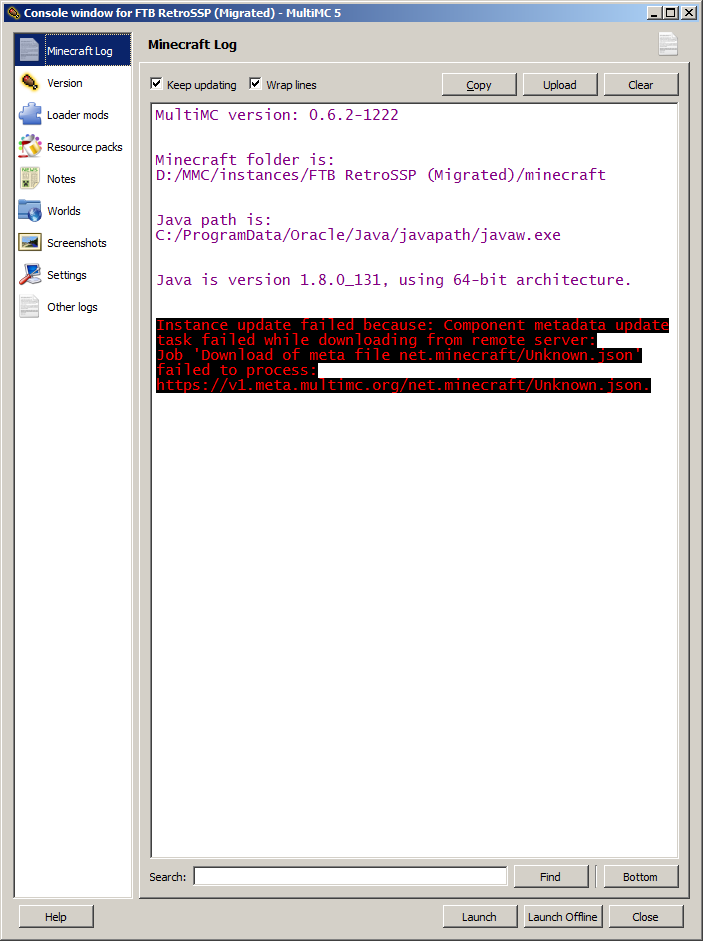 List Update Failed: meta/json file failed to process · Issue