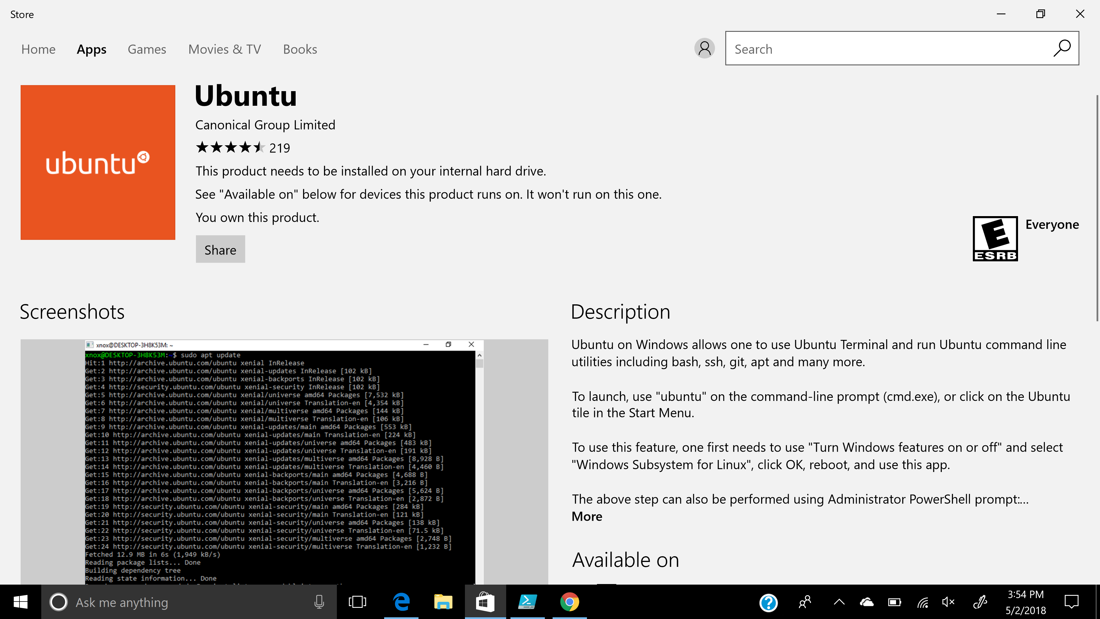 Unable to setup Ubuntu on windows · Issue #3142 · microsoft