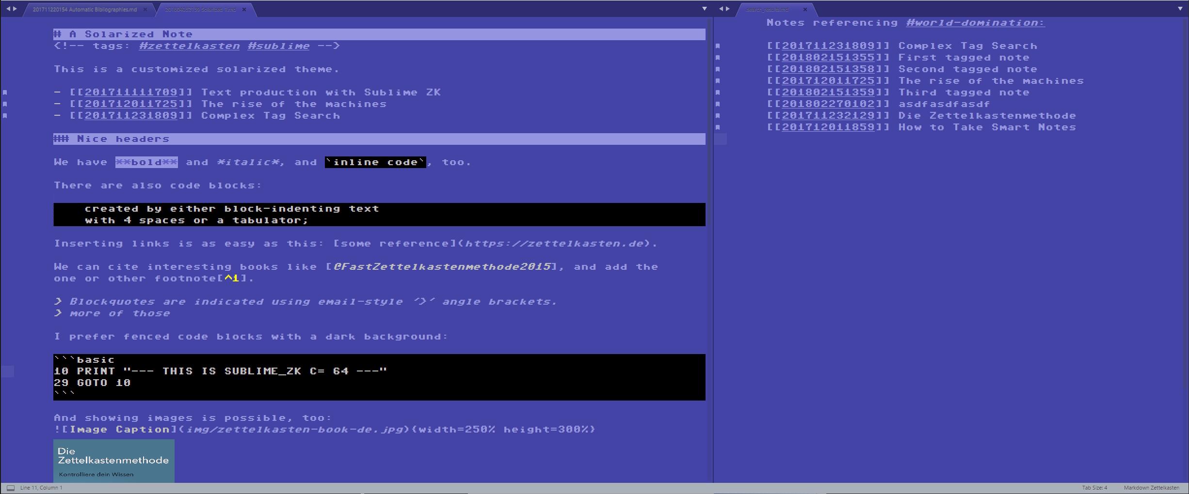 GitHub - renerocksai/sublime_zk: A SublimeText3 package