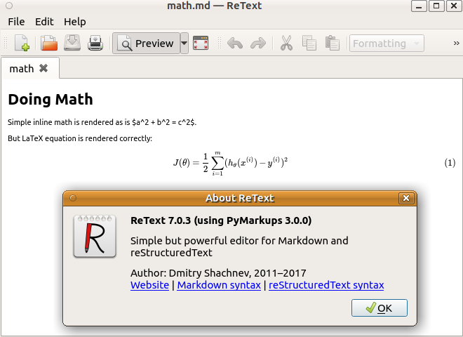 Vnote ignores LaTeX equations declared by \begin{equation}     \end