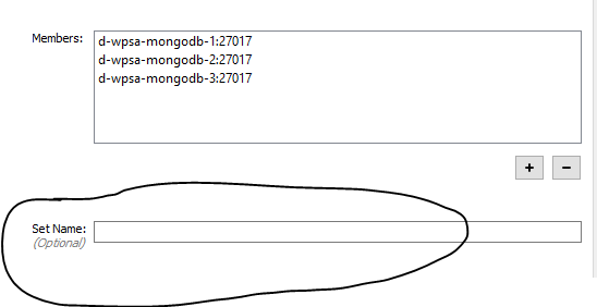 Robo 3T 1 1 1 doesn't connect to replicaSet unless name is specified
