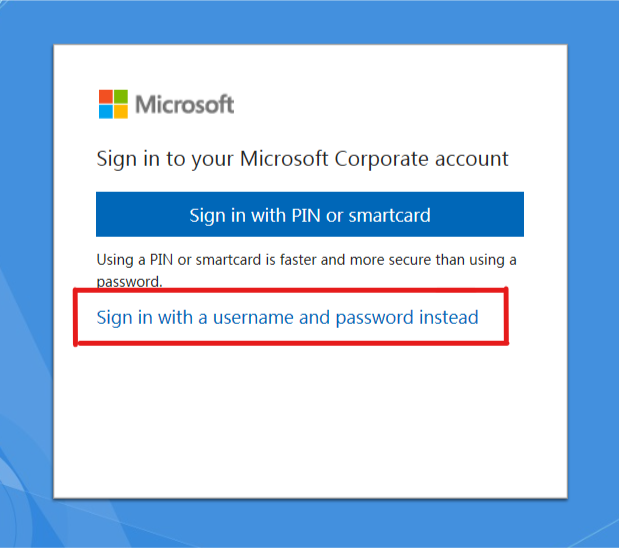 Workaround for the Windows Hello (PIN auth) issue on Windows