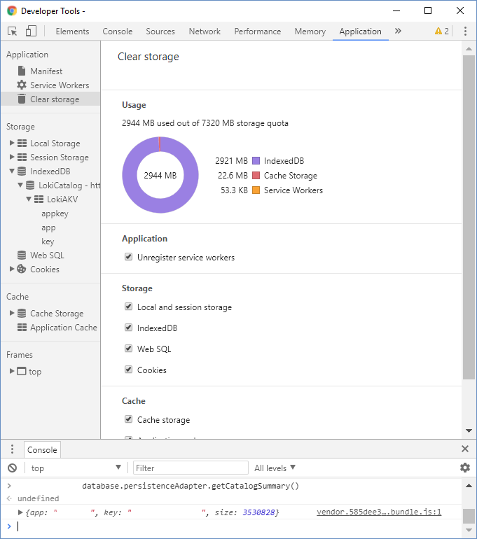 IndexedDB massive storage use · Issue #620 · techfort/LokiJS