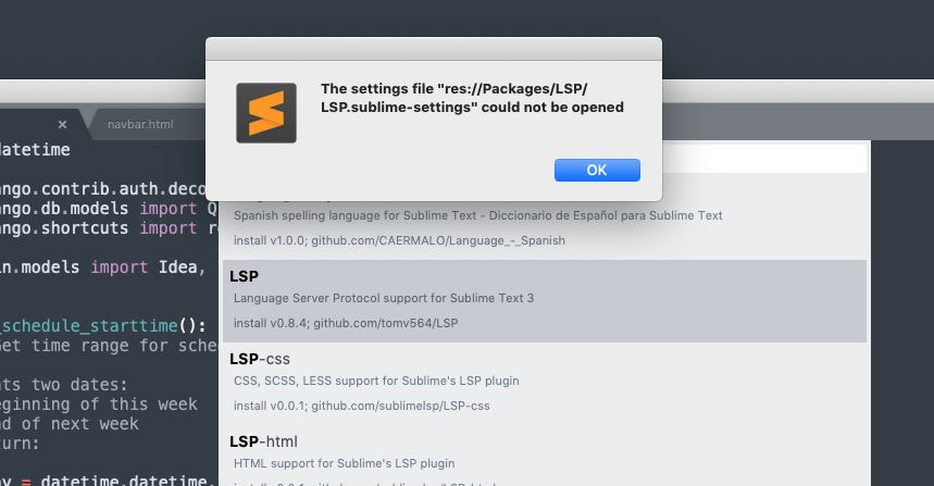LSP plugin install hangs on macOS 10 14 · Issue #643 · tomv564/LSP