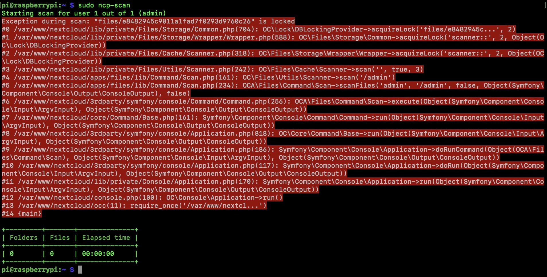 lol scanning files problem
