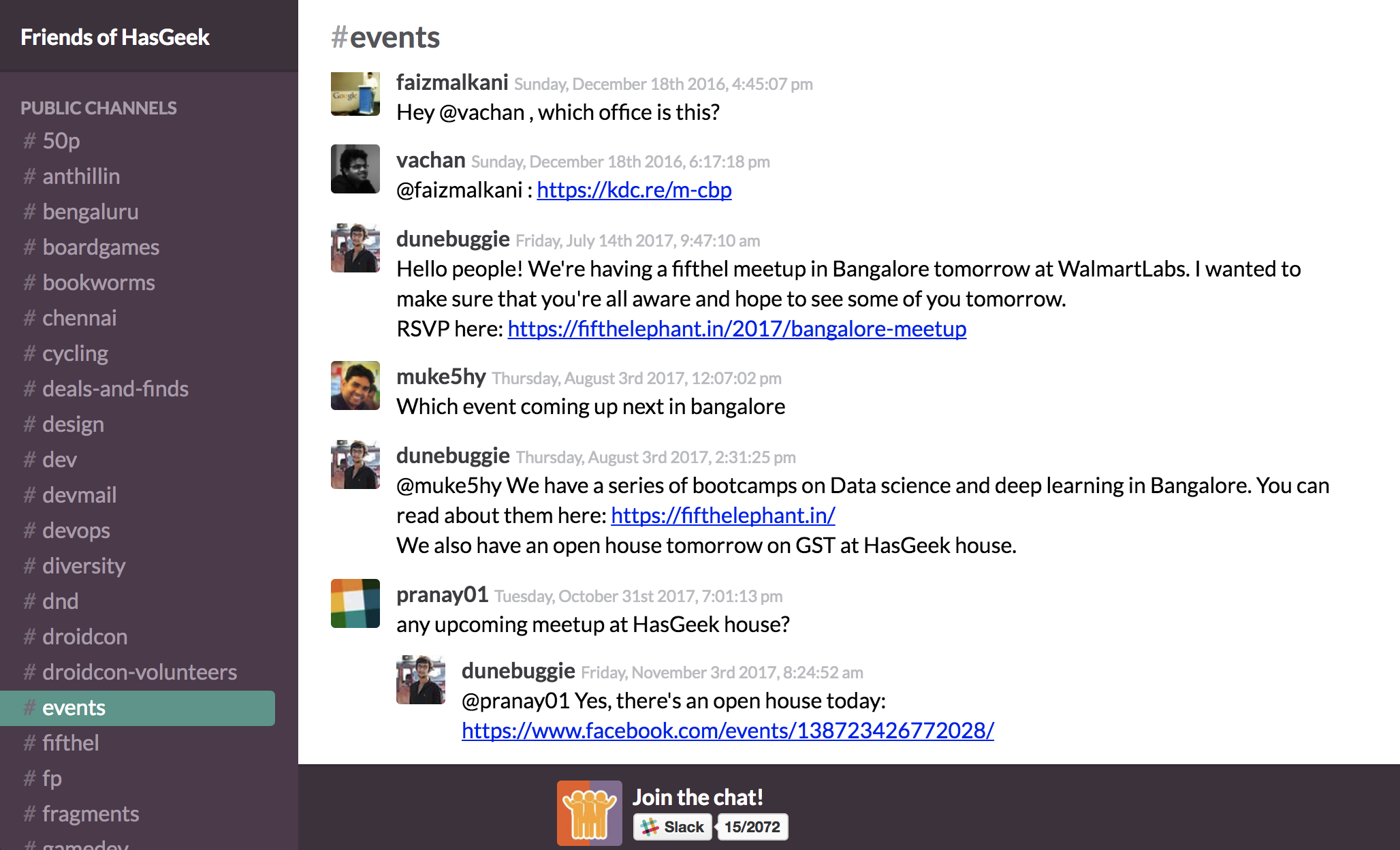 Friends of HasGeek slack archive