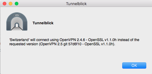 OpenVPN version warning · Issue #470 · Tunnelblick