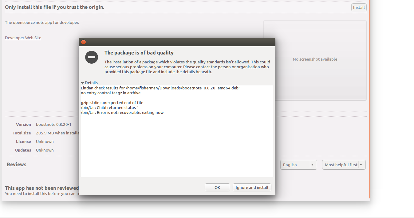 Problem while installing in Ubuntu14 04x64 · Issue #1449
